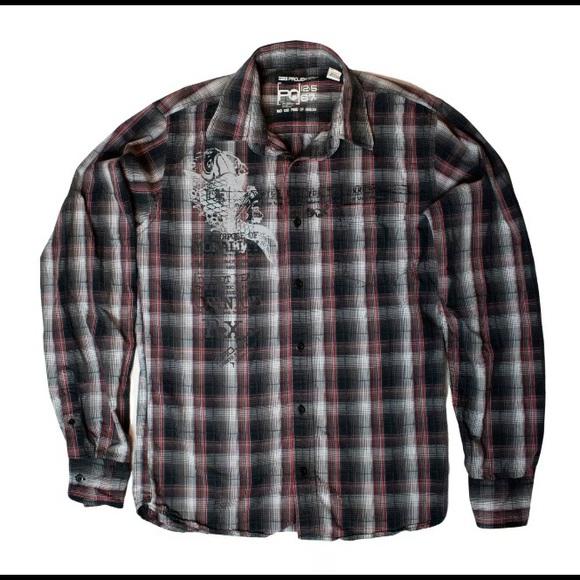Projek Raw Flannel Men's Medium Button Up Shirt